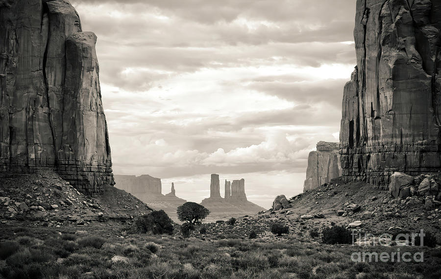 American West Photograph - American West, Monument Valley, Monochrome by Felix Lai