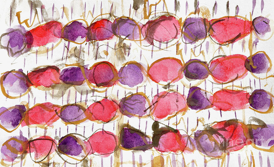 Amethyst And Ruby Beads Painting