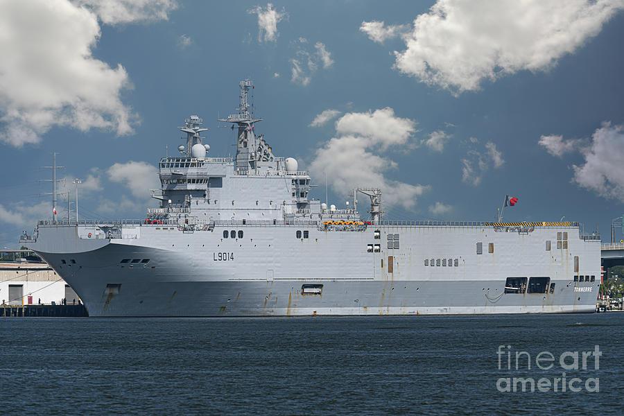 Amphibious Assault Helicopter Carrier - French Ship Tonnerre L9014 Photograph