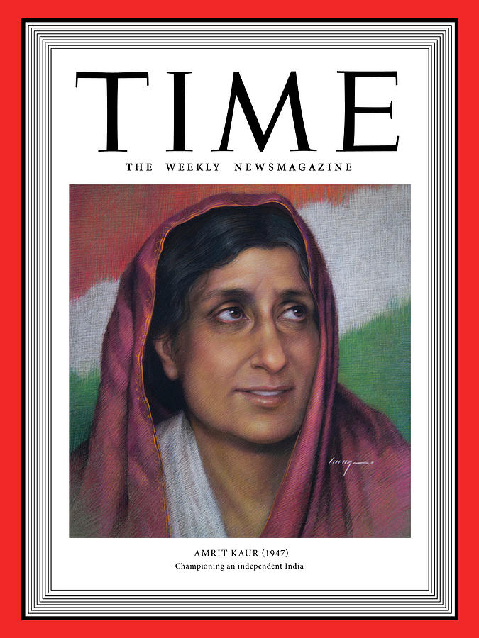 Time Photograph - Amrit Kaur, 1947 by Painting by Cuong Nguyen