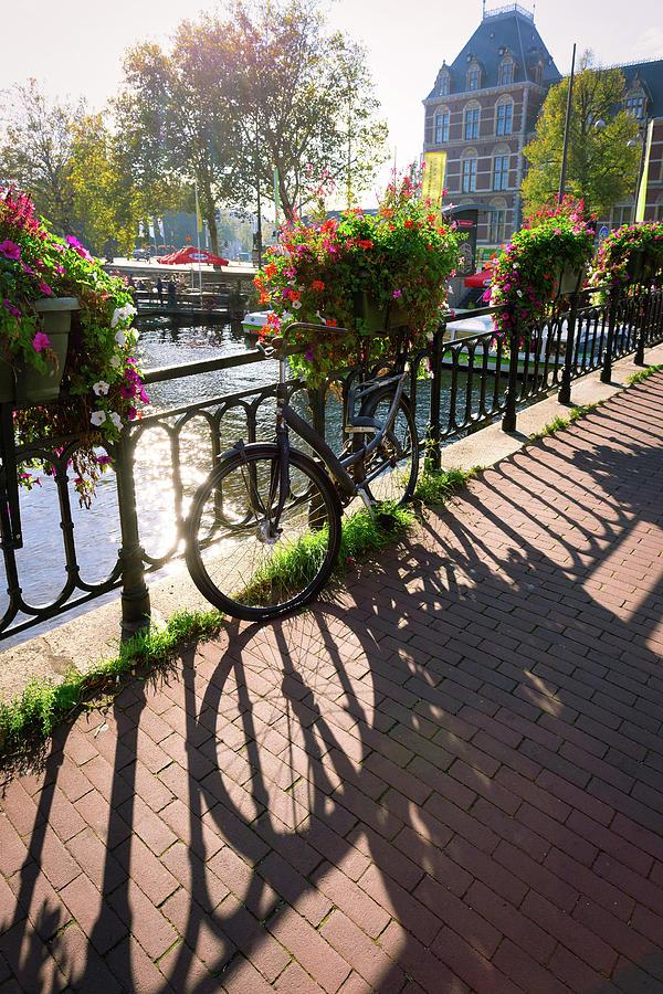 Amsterdam Bike and Flowers by Lauri Novak