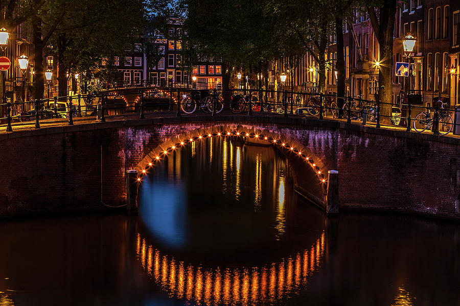 Amsterdam Canal At Twilight Photograph