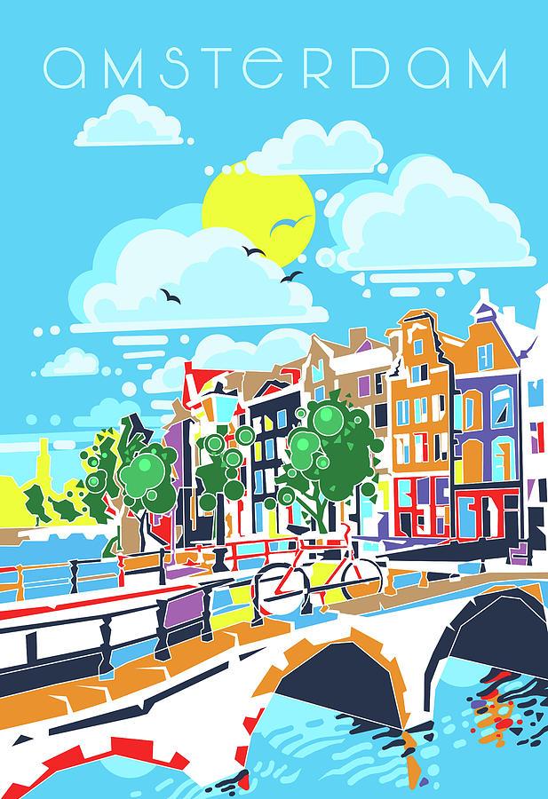 Amsterdam City Modern Digital Art