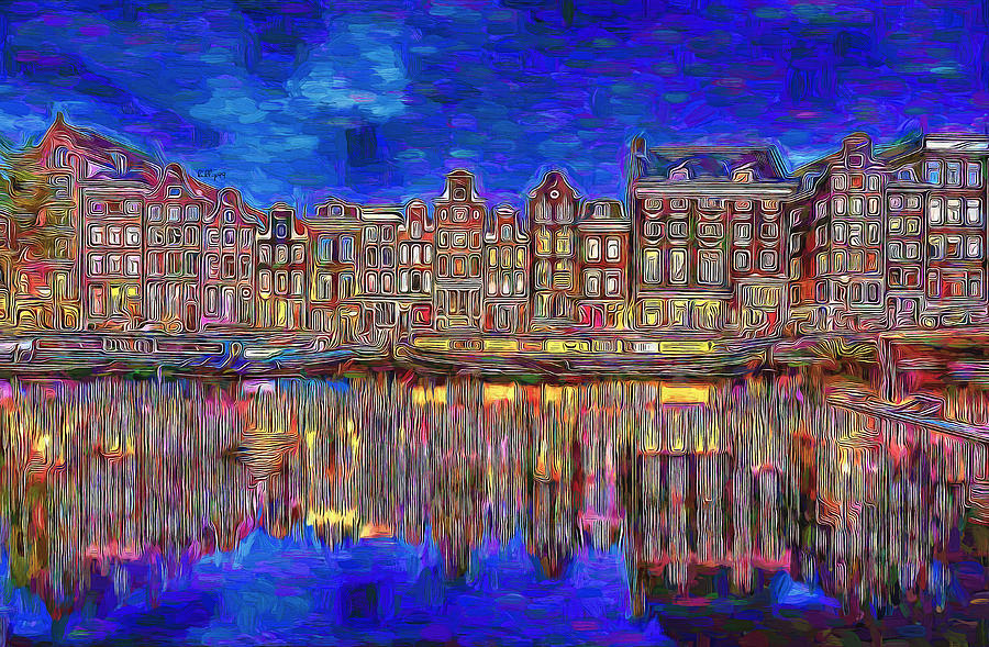 Amsterdam Reflection Painting