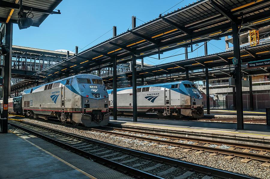 Amtrak Double Header - King Street Station by Matthew Irvin