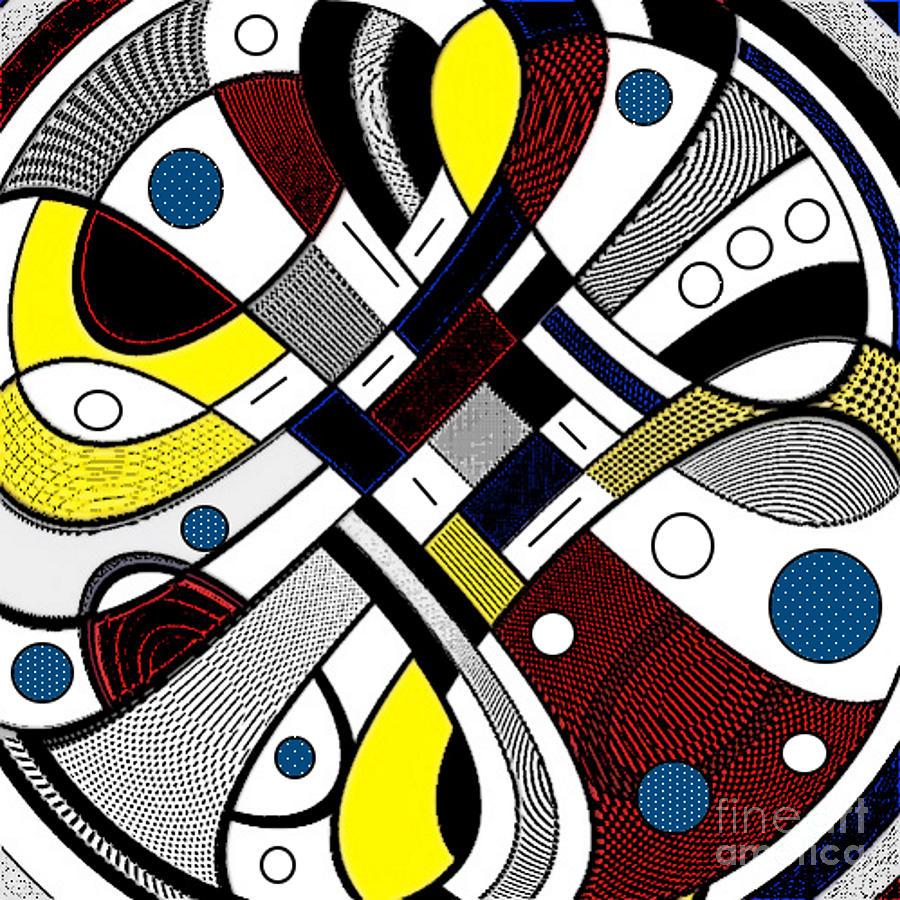 Red Digital Art - An Added Twisty by Lady Ls Designs