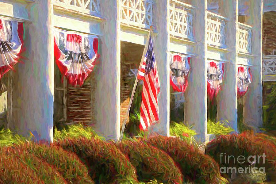 An American Flag Celebration - Painterly Photograph