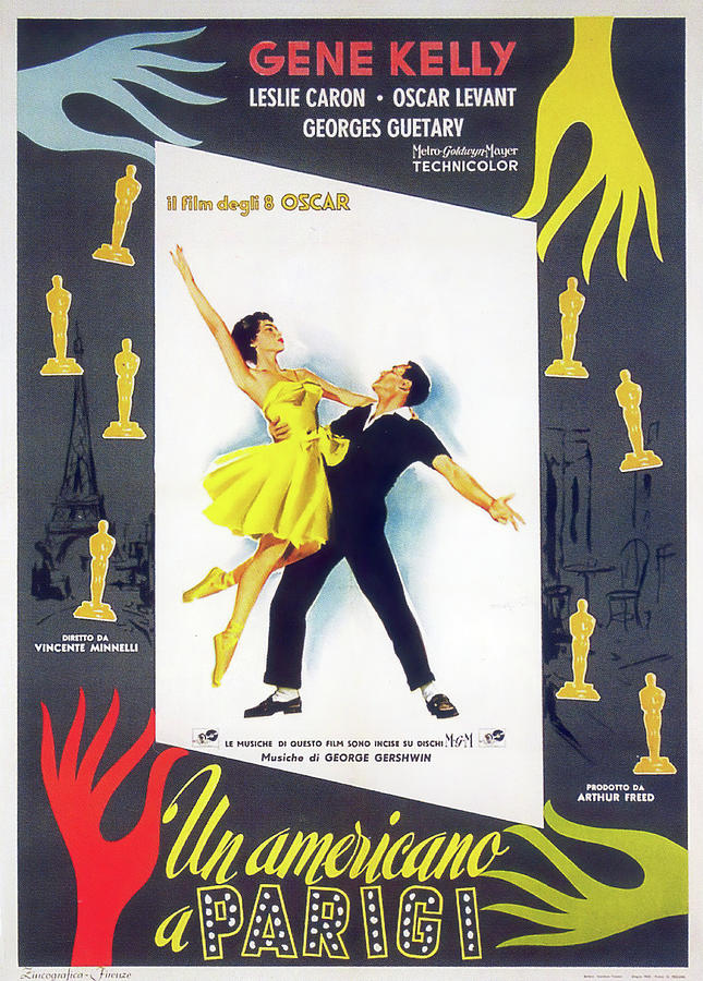 an American In Paris, With Gene Kelly And Leslie Caron, 1951 Mixed Media