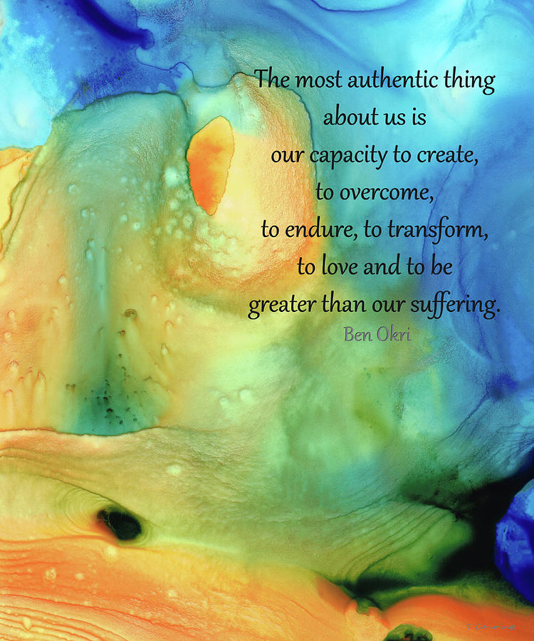 Hope Painting - An Authentic Life - Inspirational Art - Sharon Cummings by Sharon Cummings