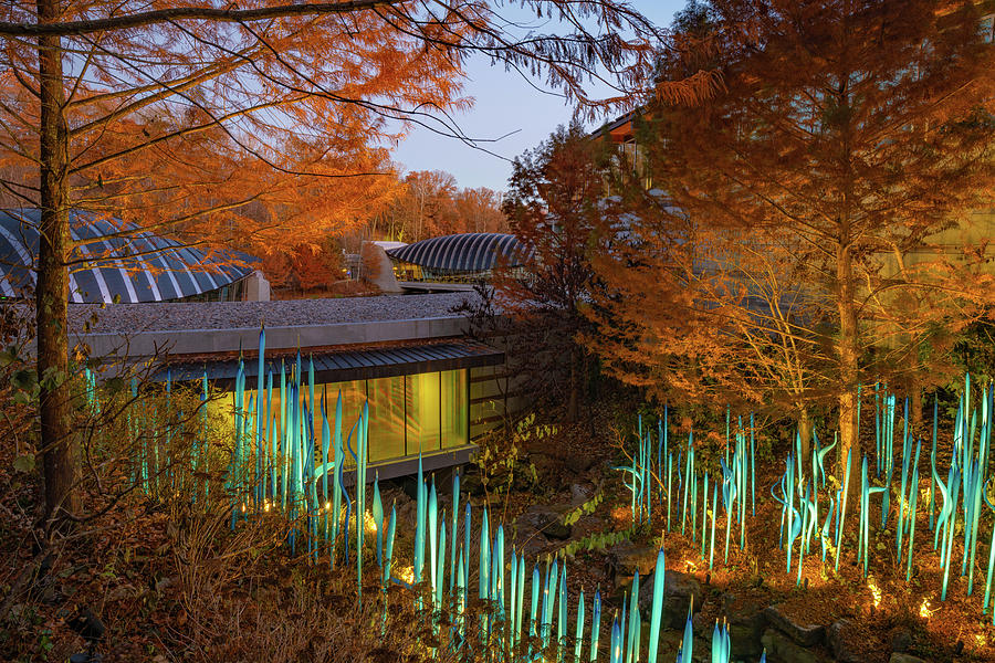 An Autumn Morning at Crystal Bridges Art Museum - Northwest Arkansas by Gregory Ballos