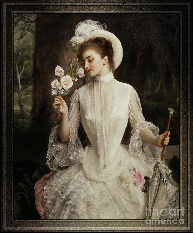 An Elegant Bouquet by Gustave Jean Jacquet by Xzendor7