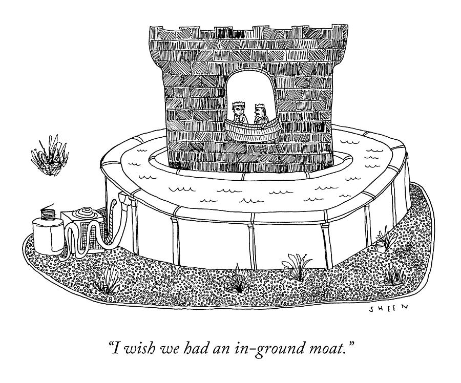 An In-Ground Moat Drawing by Justin Sheen