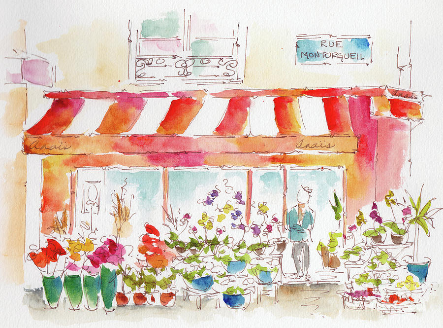 Anais Flower Shop Paris by Pat Katz