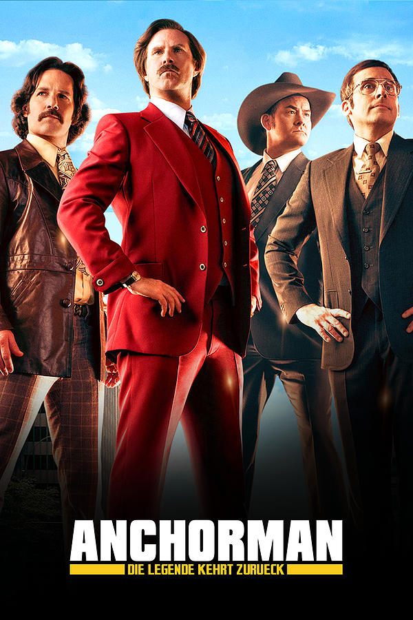 Anchorman 2 The Legend Continues 2013 Digital Art By Geek N Rock