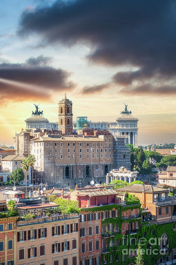 Rome Photograph - Ancient Rome - Eternal City Panorama  by Stefano Senise