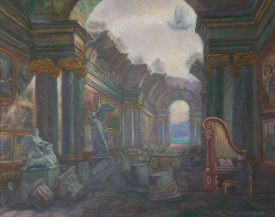Historical Painting - Ancient Ruins. My last Exhibition in The Grand Gallery. Private Collection. by Edward Tabachnik