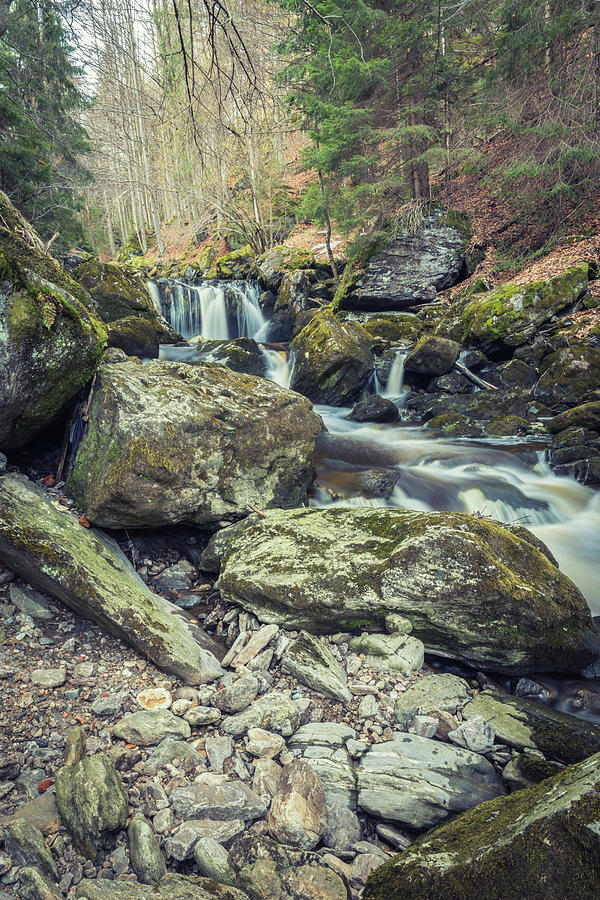 Ancient Stones In The Cascade Photograph