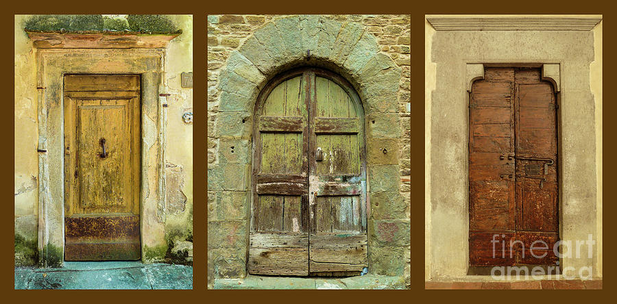 Ancient Tuscan Doors Photograph