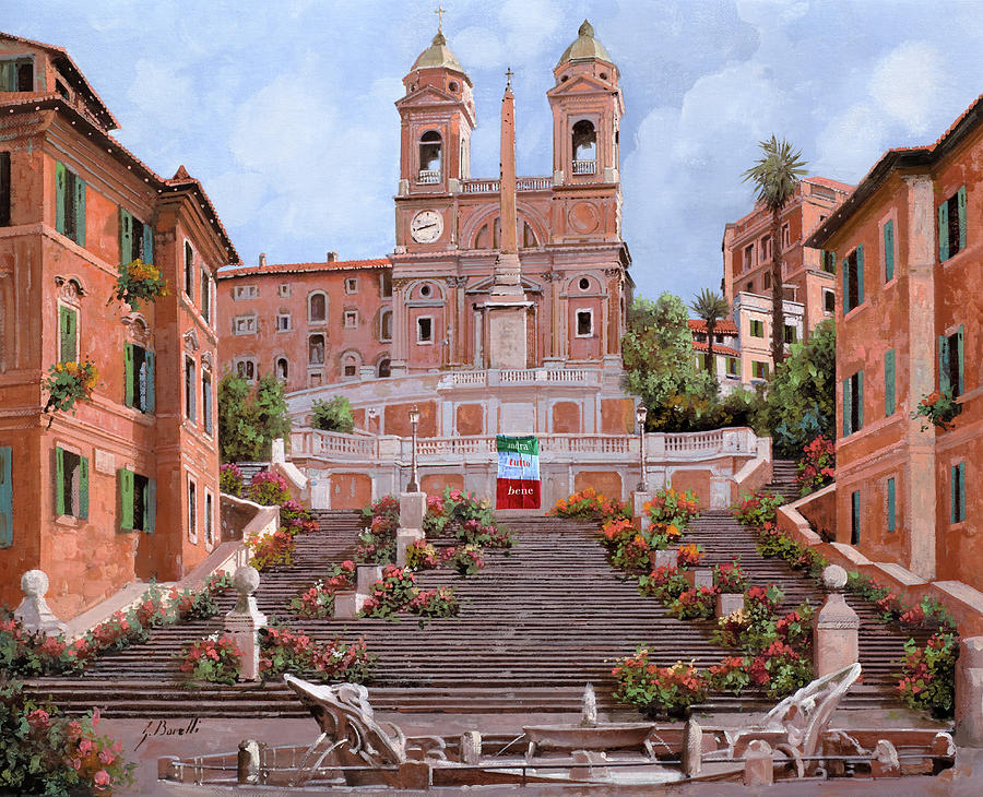 andra tutto bene-Rome Painting