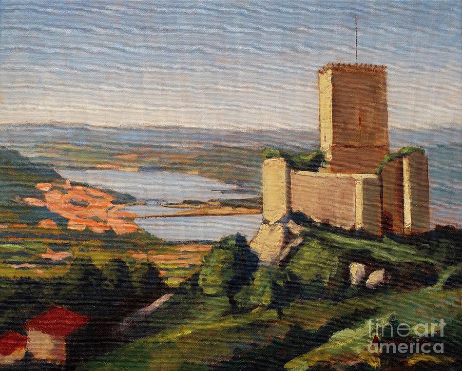 Andrades Castle Nogueirosa Pontedeume Galicia Spain Painting by Pablo Avanzini