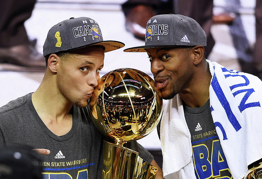 Andre Iguodala and Stephen Curry Photograph by Jason Miller