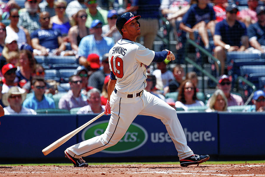 Andrelton Simmons Photograph by Kevin Liles