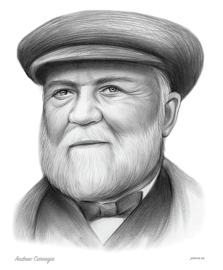Andrew Carnegie - Pencil Drawing