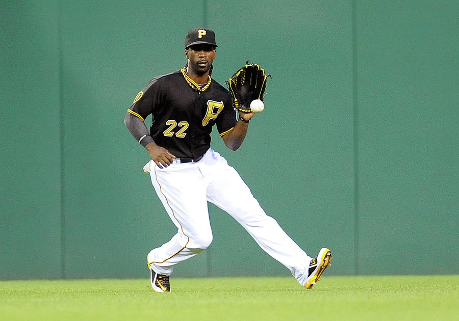 Andrew Mccutchen and Alfredo Simon Photograph by Joe Sargent