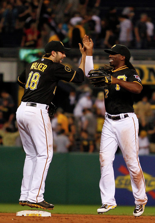 Andrew Mccutchen and Neil Walker Photograph by Justin K. Aller