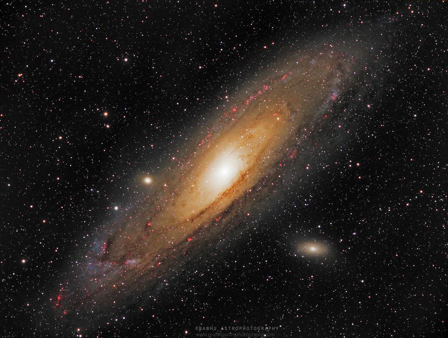 Andromeda Galaxy Photograph - Andromeda Galaxy by Prabhu Astrophotography