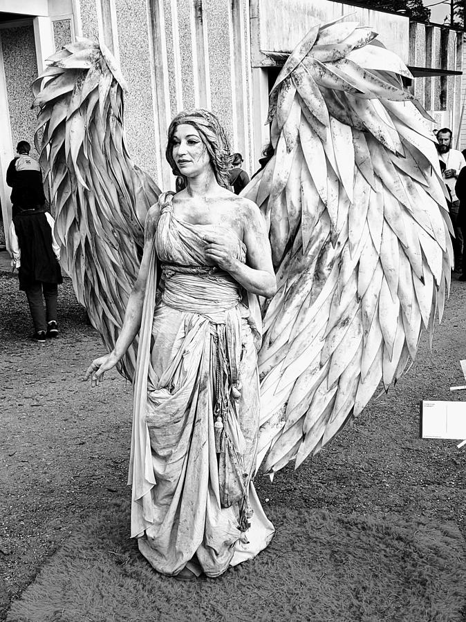 Angel Photograph - Angel in the Crowd by Leilani Zeumer-Spataro