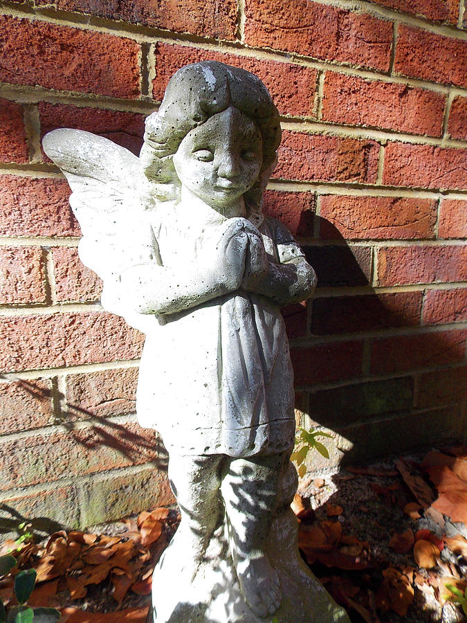 Angels Photograph - Angel In The Garden by Matthew Seufer