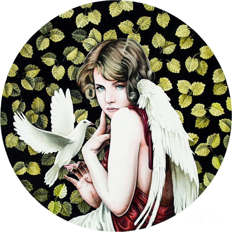 Angel With Dove Mixed Media by Ross Coleman