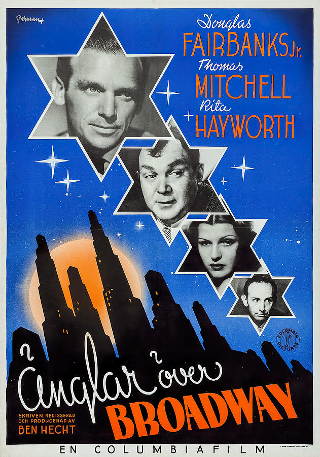 angels Over Broadway, With Douglas Fairbanks Jr. And Rita Hayworth, 1940 Mixed Media
