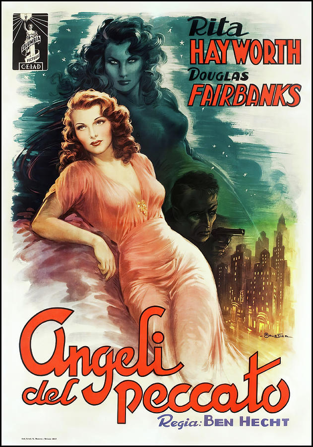 angels Over Broadway, With Rita Hayworth, 1940 Mixed Media