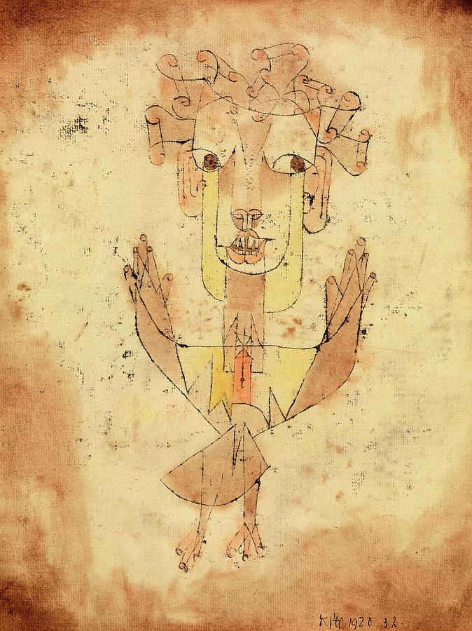 Paul Klee Painting - Angelus Novus, 1920 by Paul Klee