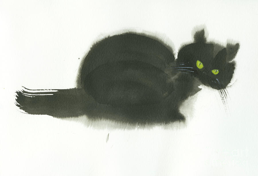 Angry Cat Painting by Mui-Joo Wee
