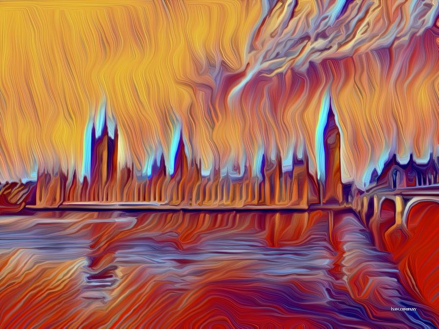Angry London Digital Art
