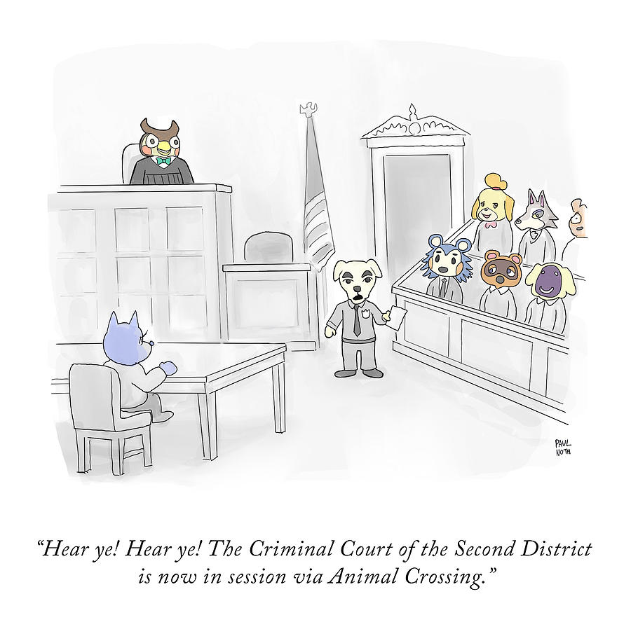 Animal Crossing Court Drawing by Paul Noth