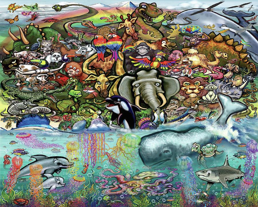 Animals Of Land And Sea Digital Art