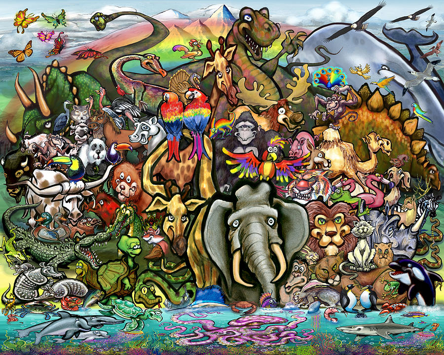 Animals Of Planet Earth Digital Art