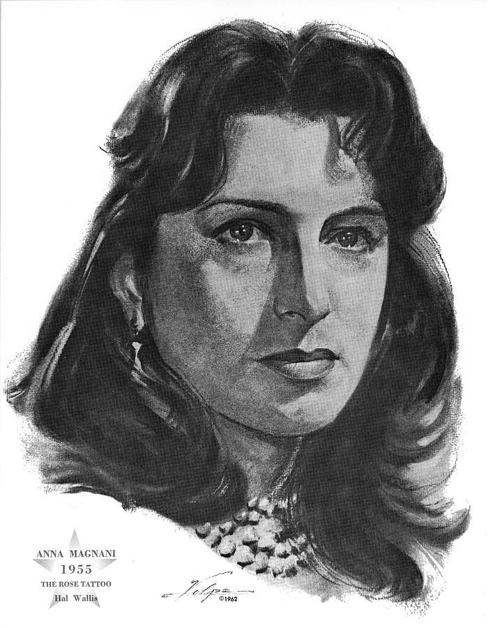 Anna Magnani 1955 Drawing
