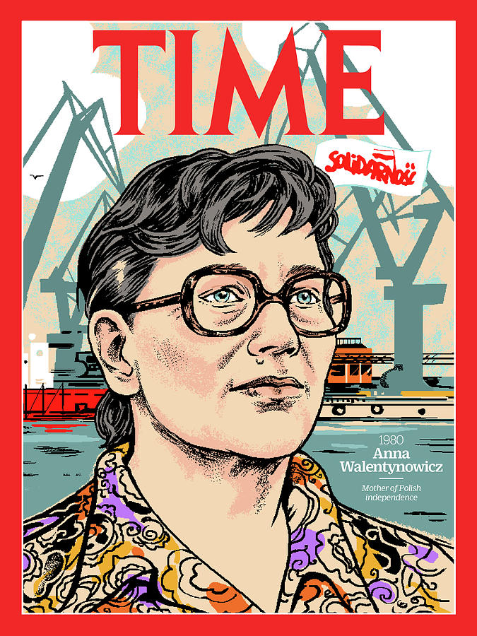 Time Photograph - Anna Walentynowicz, 1980 by Illustration by Agata Nowicka for TIME