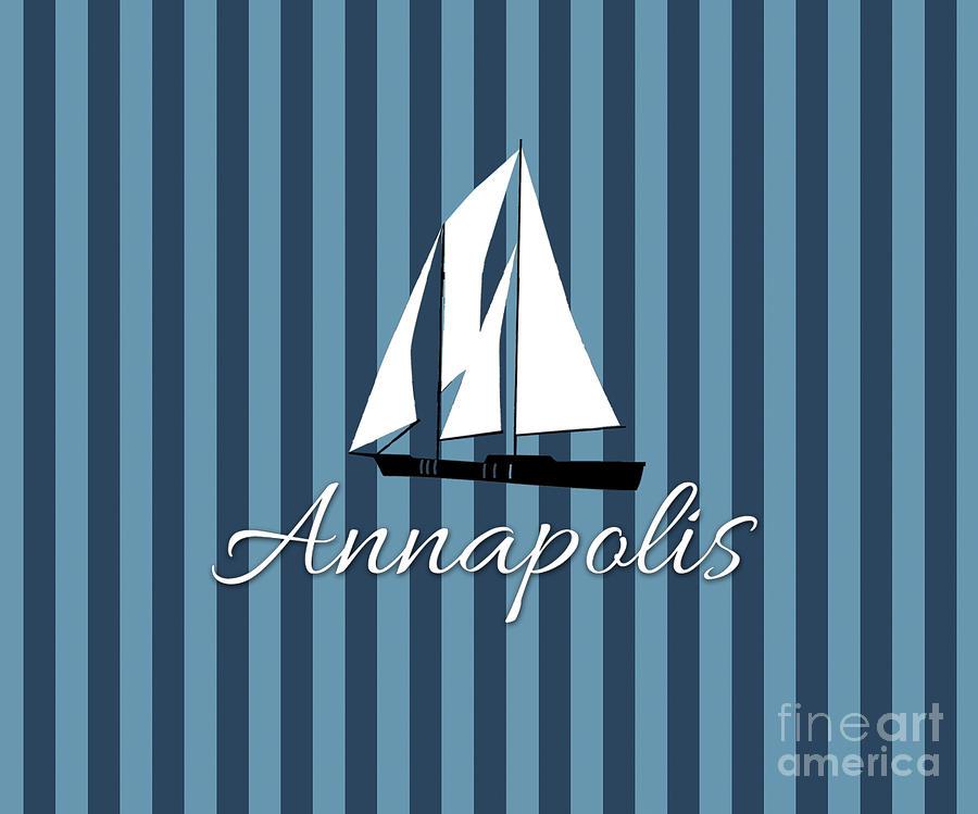 Annapolis Digital Art - Annapolis sailboat pattern by Joe Barsin