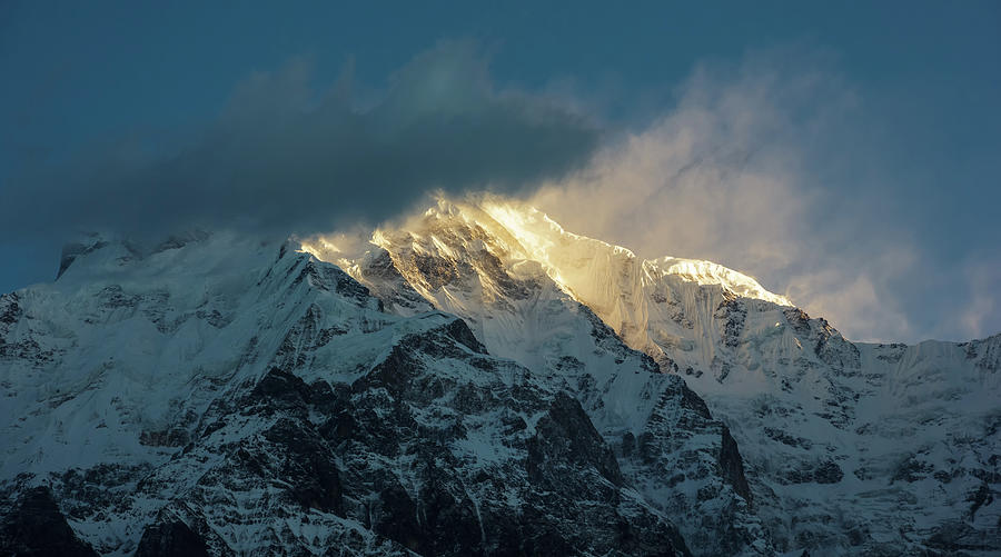Annapurna Photograph - Annapurna Light by Balaji Srinivasan
