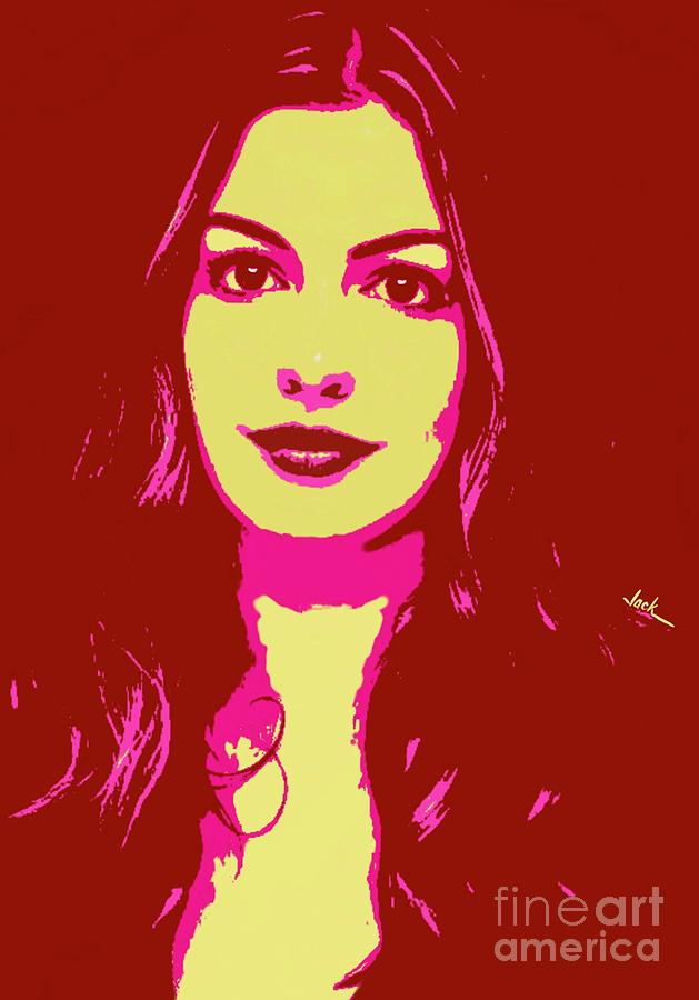 Hathaway Painting - Anne Hathaway  by Jack Bunds