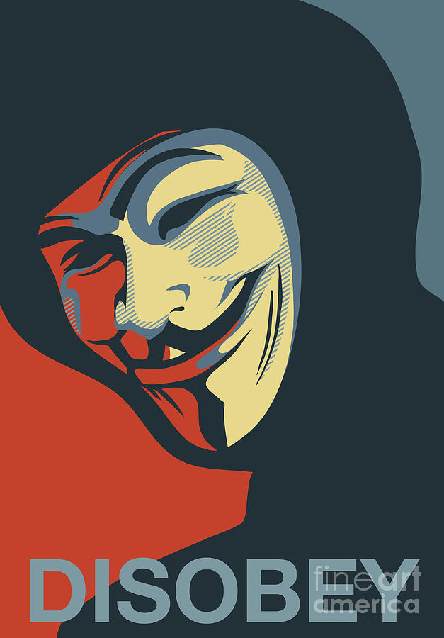Anonymous Mask Disobey Poster Art Painting