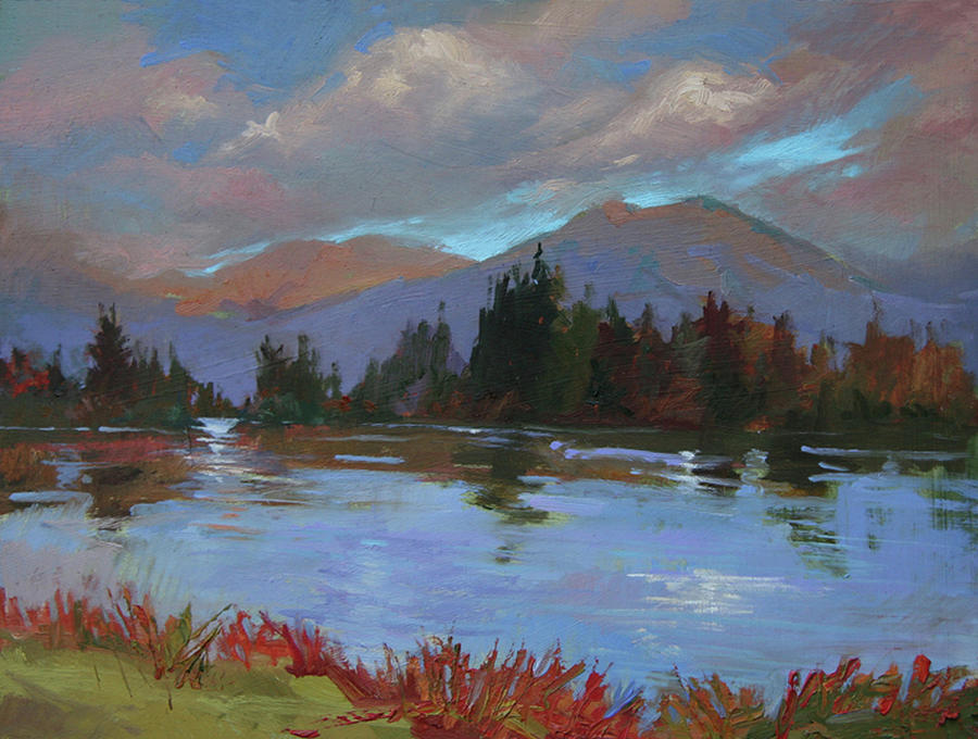Montana Rivers Painting - Another Storm  by Betty Jean Billups