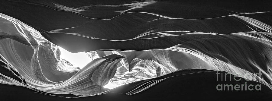 Antelope Canyon The Wave Black And White Photograph