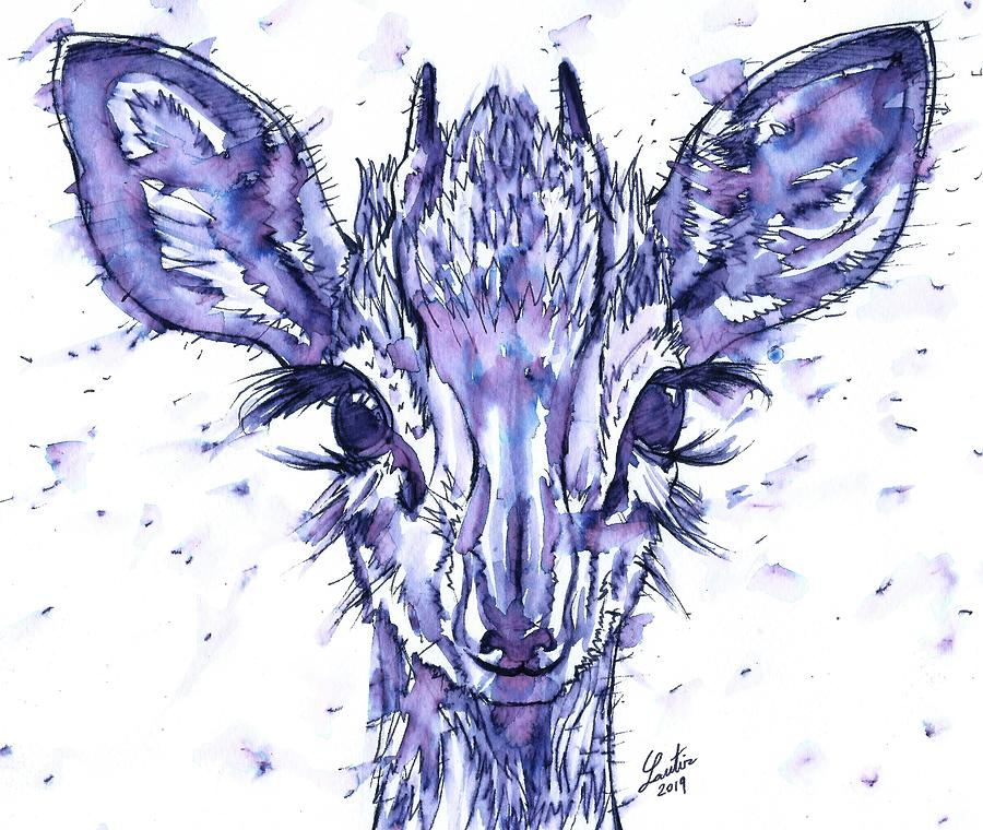 ANTELOPE - watercolor and ink portrait.1 by Fabrizio Cassetta